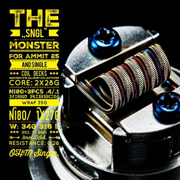 The SNGL Monster | Tasty Ohm Coils