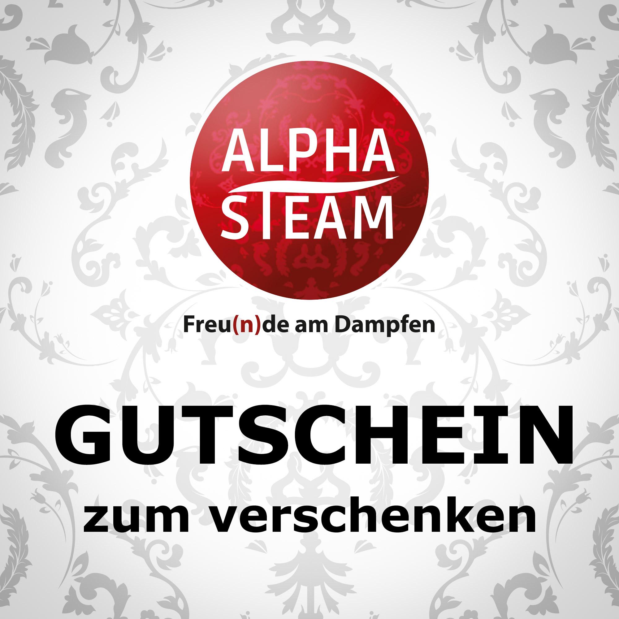 alpha steam gutscheine alpha steam e zigaretten liquids zubeh r. Black Bedroom Furniture Sets. Home Design Ideas